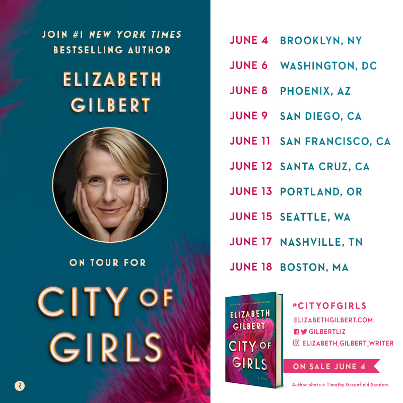 Elizabeth Gilbert on Tour! Live Appearances & Events